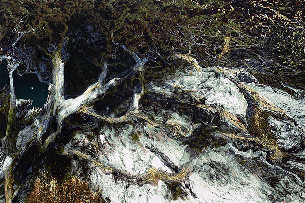 Pinie - 2018 - Acryl auf Leinwand - 130 cm x 180 cm