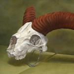 Schädel - 1999 - Oel auf Leinwand - 20 cm x 30 cm