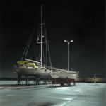 Segler - 2005 - Acryl auf Leinwand - 45 cm x 65 cm