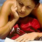 Lesende (Time) - 2010 - Acryl auf Leinwand - 110 cm x 120 cm